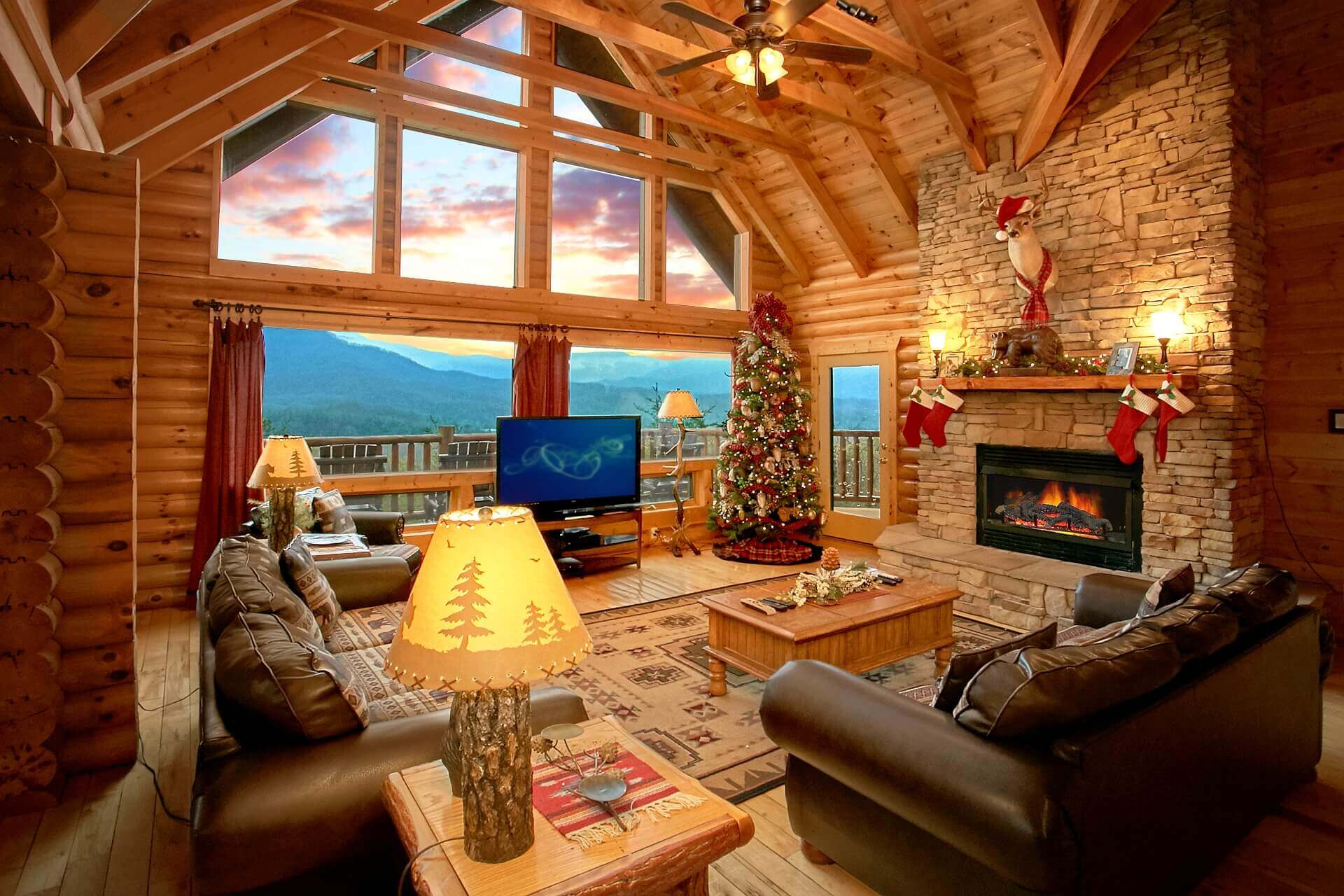 5 bedroom cabin with incredible views elk springs resort for Heavenly view cabin sevierville tn