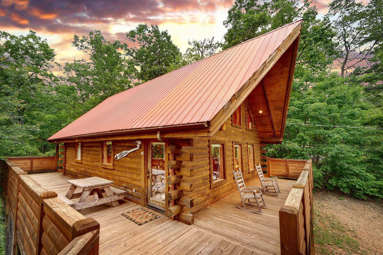 Buckhaven 1 bedroom honeymoon cabin in gatlinburg elk springs resort for One bedroom cabins in gatlinburg