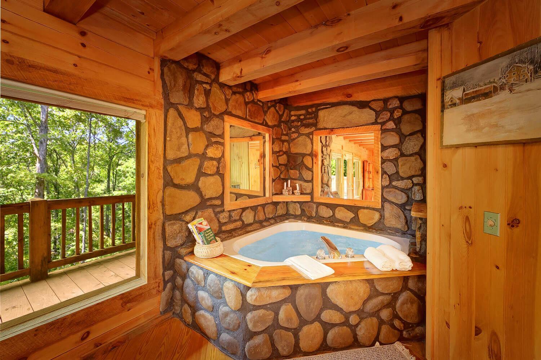 Buckhaven 1 bedroom honeymoon cabin in gatlinburg elk springs resort - Bedroom cabins in gatlinburg ...