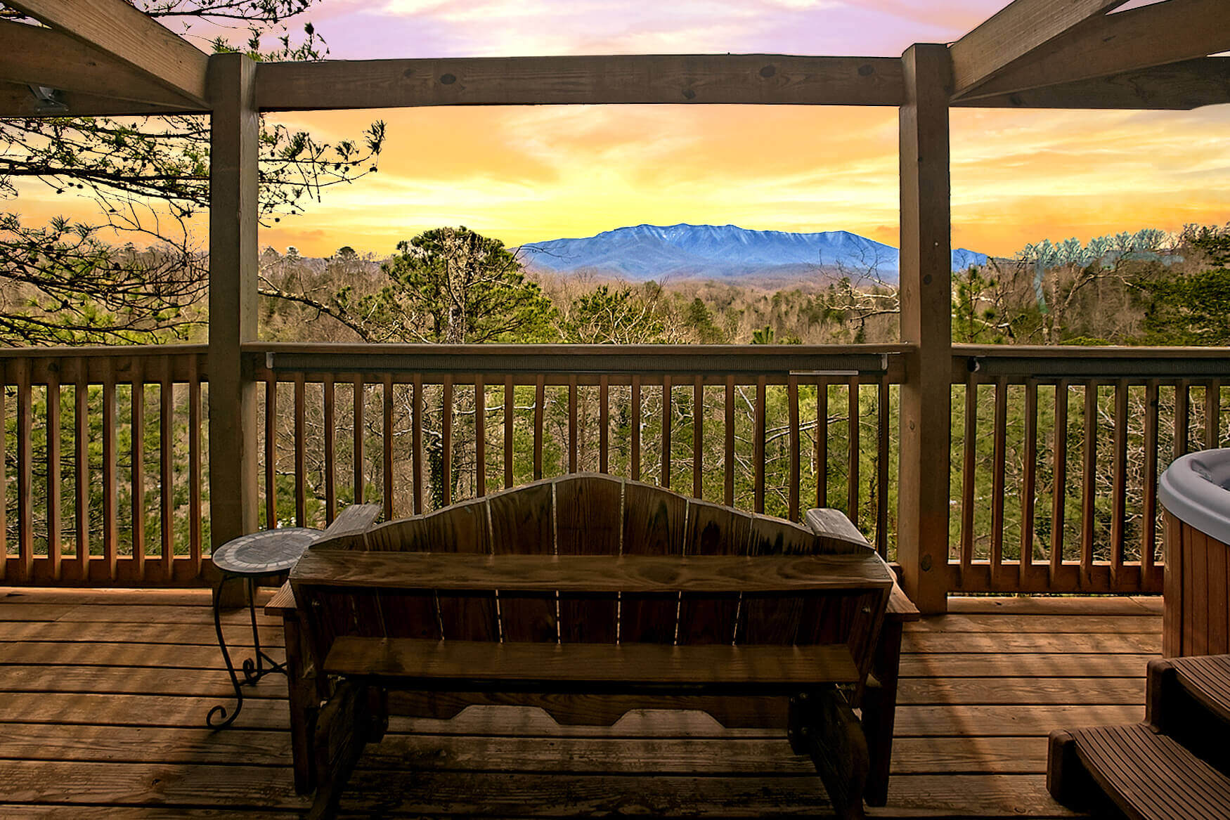 heather a s in level at sevier county split cabins frame gatlinburg beautiful sevierville heathers bedroom cabin exterior rental hideaway tn is