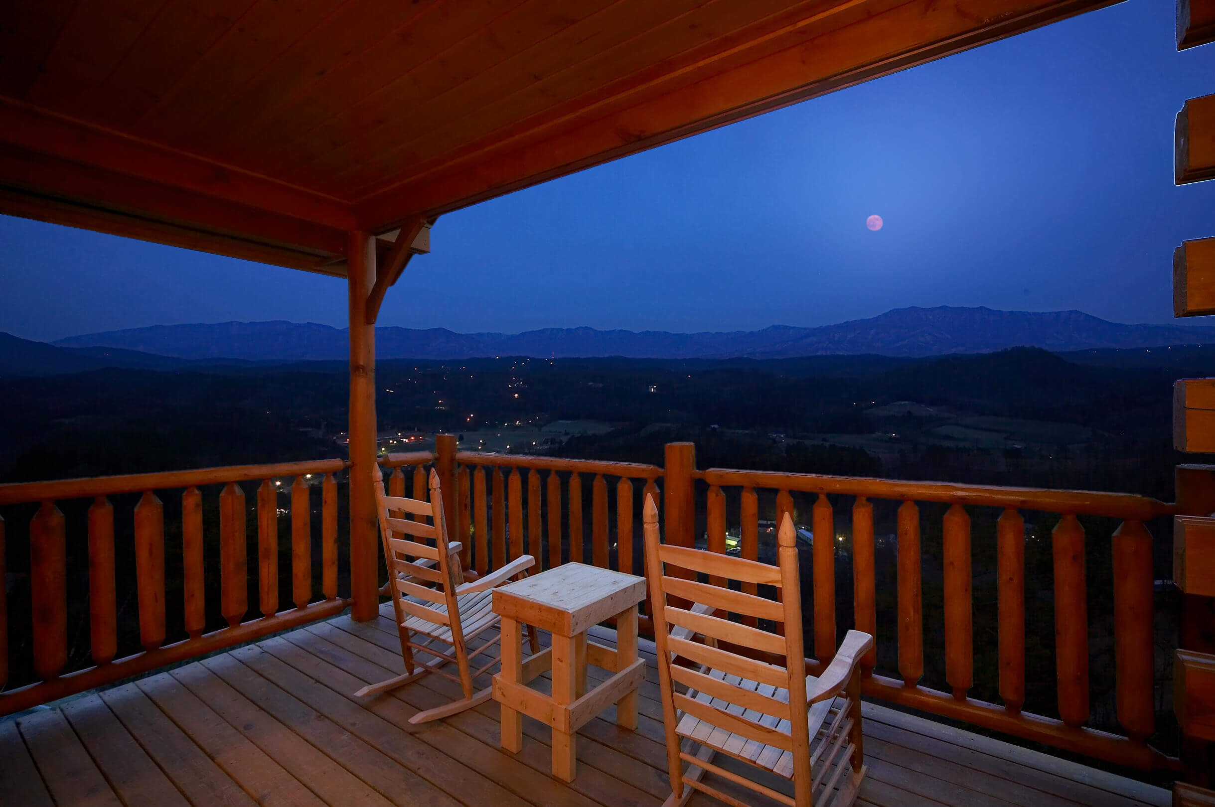 best river convenient view in bedroom pigeon little forge that on vacation fishing of the cabins a riverfront two rental features mountain smoky cabin