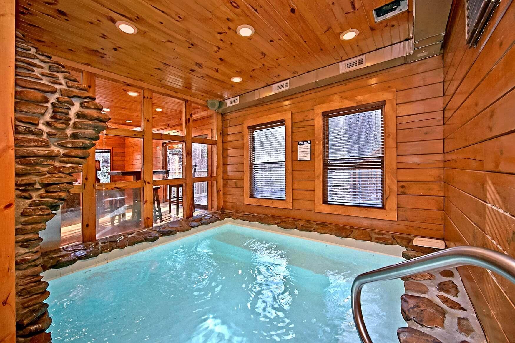2 bedroom pool cabin in gatlinburg elk springs resort for Luxury pet friendly cabins in gatlinburg tn