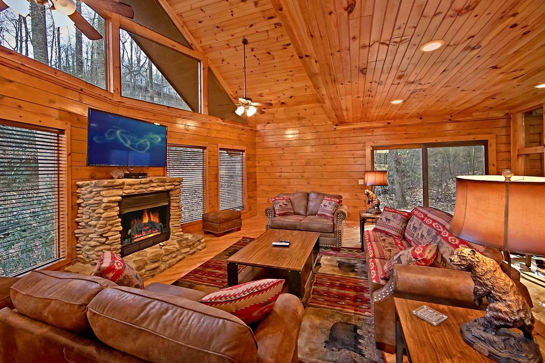 2 bedroom pool cabin in gatlinburg elk springs resort for Two bedroom cabins in gatlinburg
