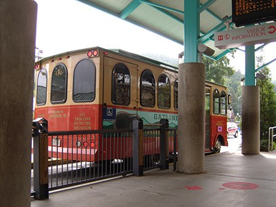 Free Parkway Trolley in Gatlinburg
