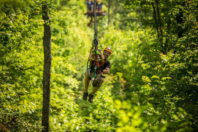 Zip Lining in Gatlinburg