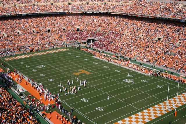 Neyland Stadium - Knoxville is a 1 hour drive from Gatlinburg Cabins