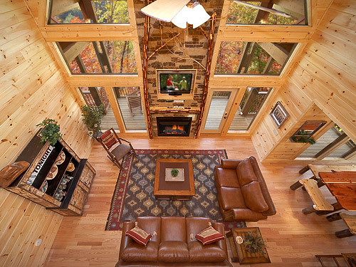 Great Room - 3 Bedroom Cabin Rental in Gatlinburg, tn