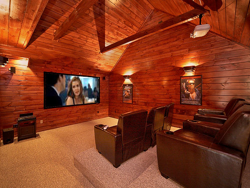 Home Theater Room Cabin Rental