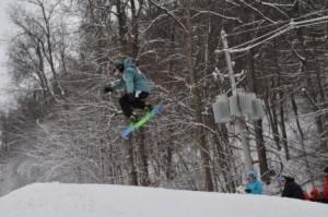 Snowboarding at Ober Gatlinburg